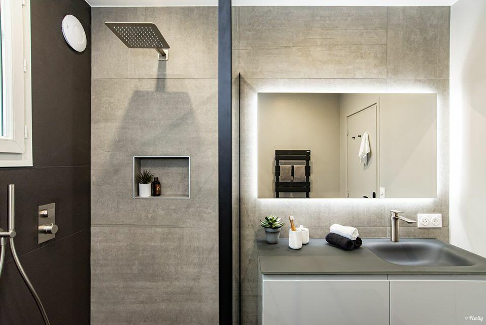 meuble de salle de bain gloss cedam