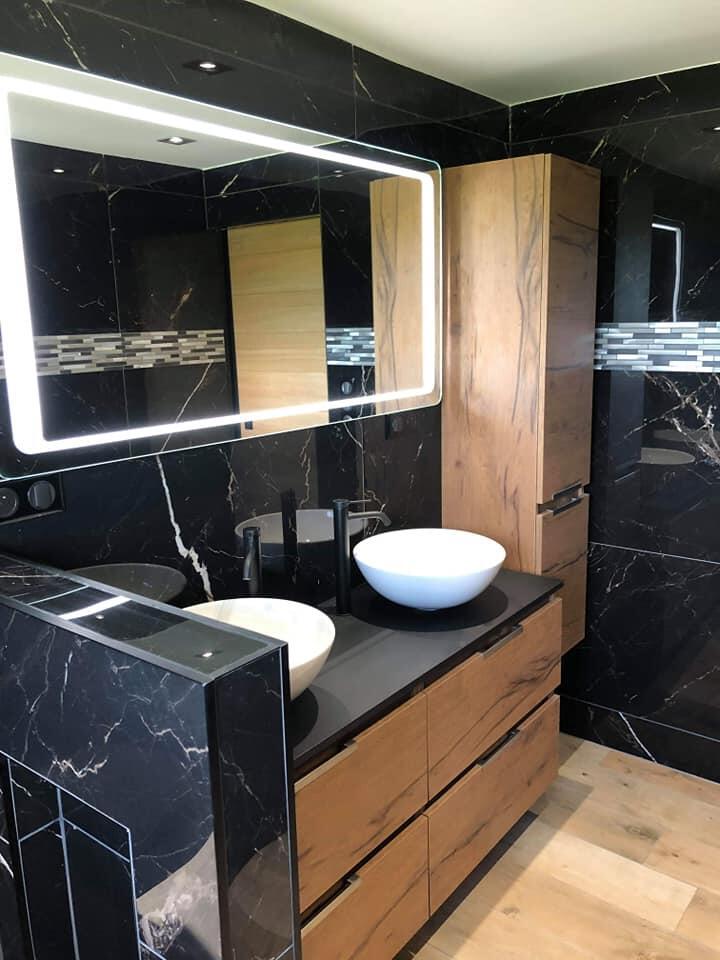 meuble salle de bain marbre noir ten cedam