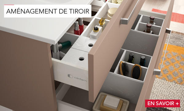 am nagement de tiroir meubles de salle de bains baignoires fabricant fran ais cedam. Black Bedroom Furniture Sets. Home Design Ideas