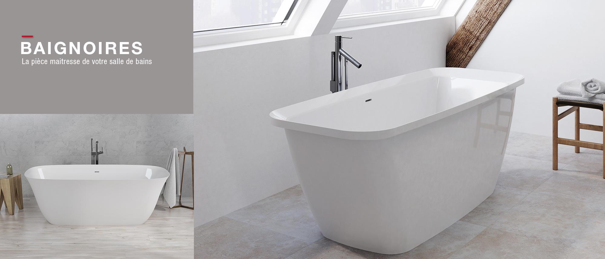 Meubles de salle de bains, baignoires, fabricant français CEDAM