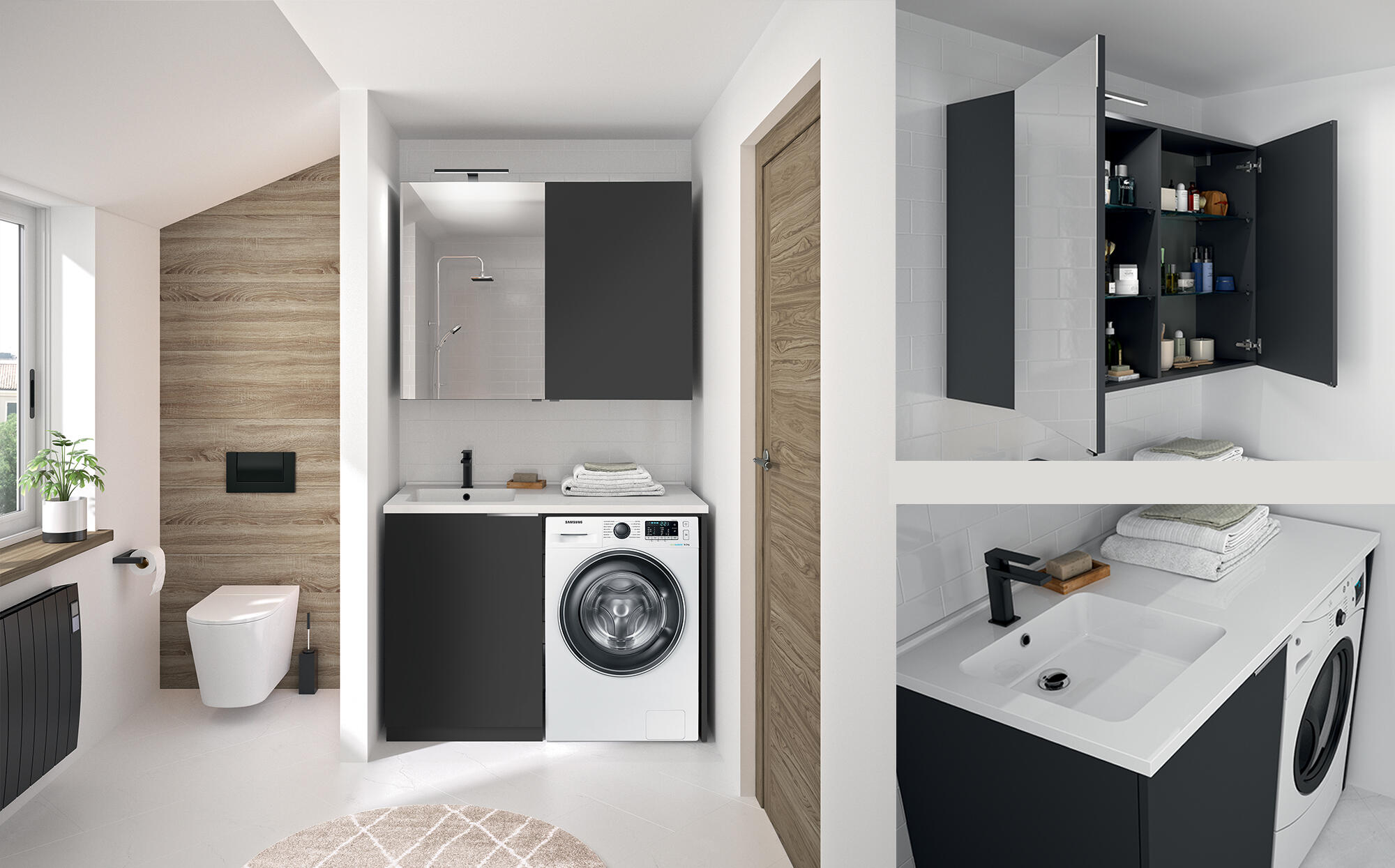 meuble lave linge cedam duo