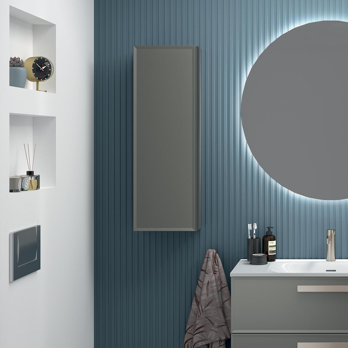 armoire de rangement salle de bain edge cedam