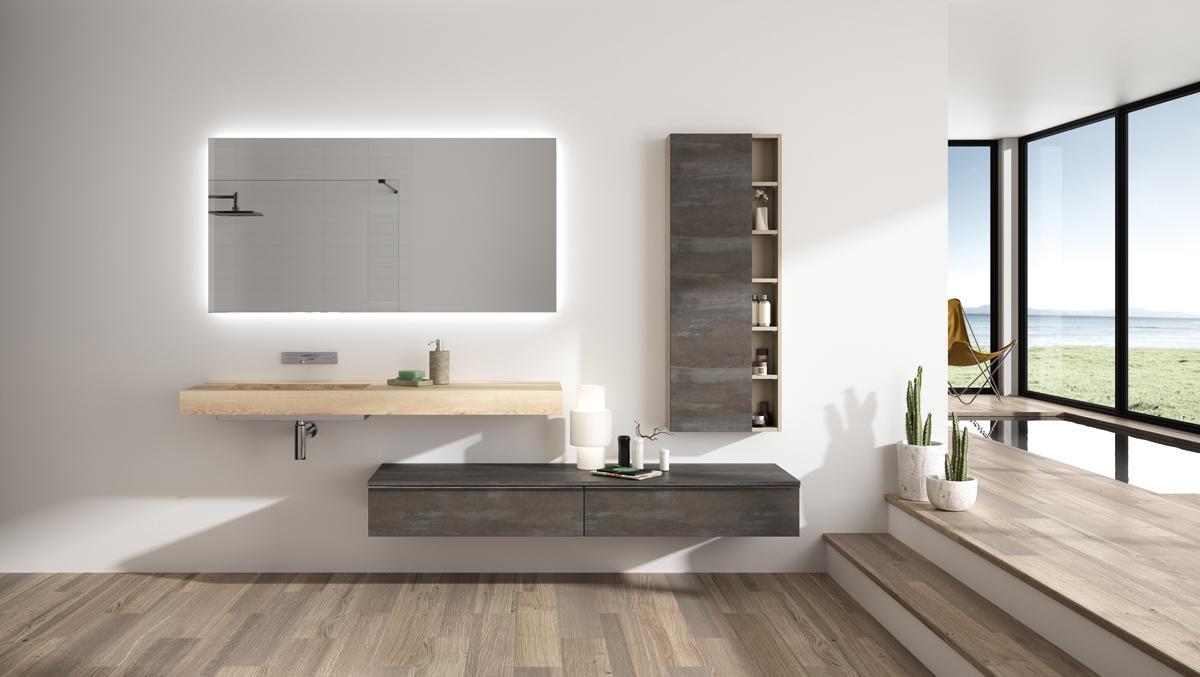 Extenso natura meubles de salle de bains baignoires fabricant fran ais cedam - Meuble rouge et blanc ...