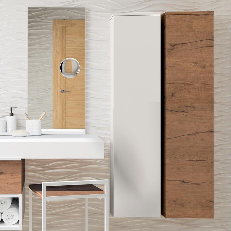 colonne rangement casiers salle de bain extenso cedam