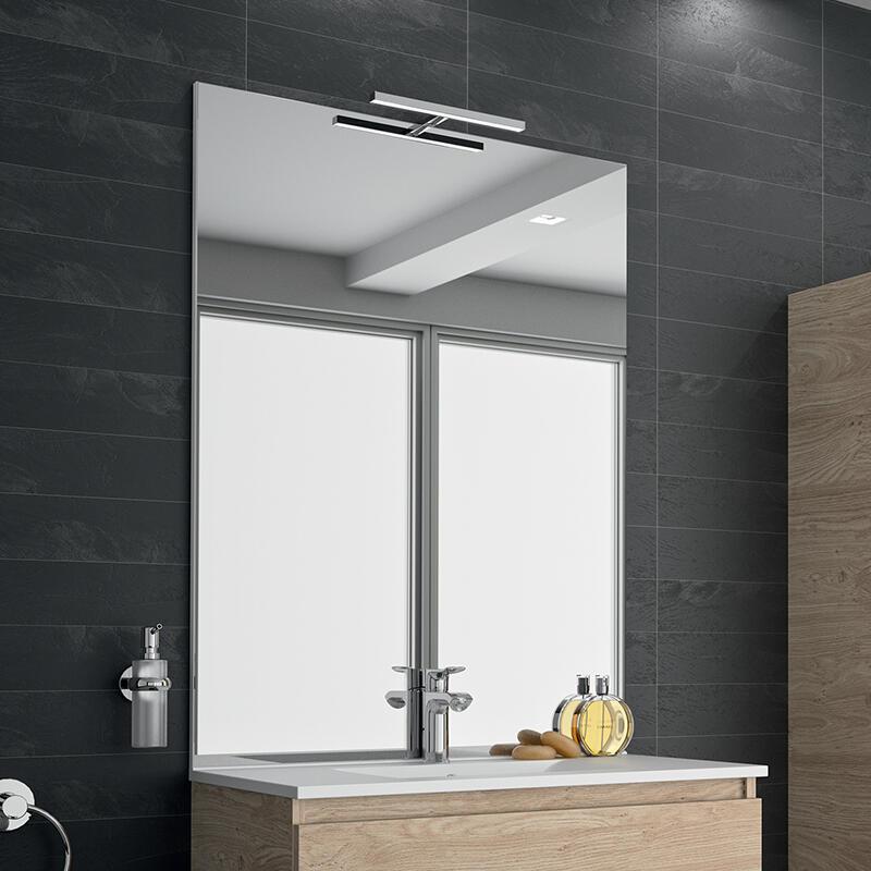 miroir sur plan salle de bain cedam