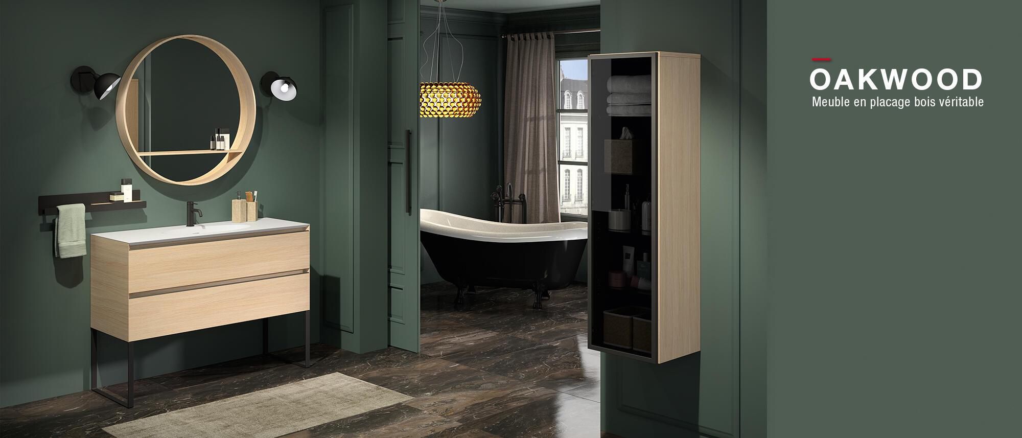meuble de salle de bain oakwood cedam