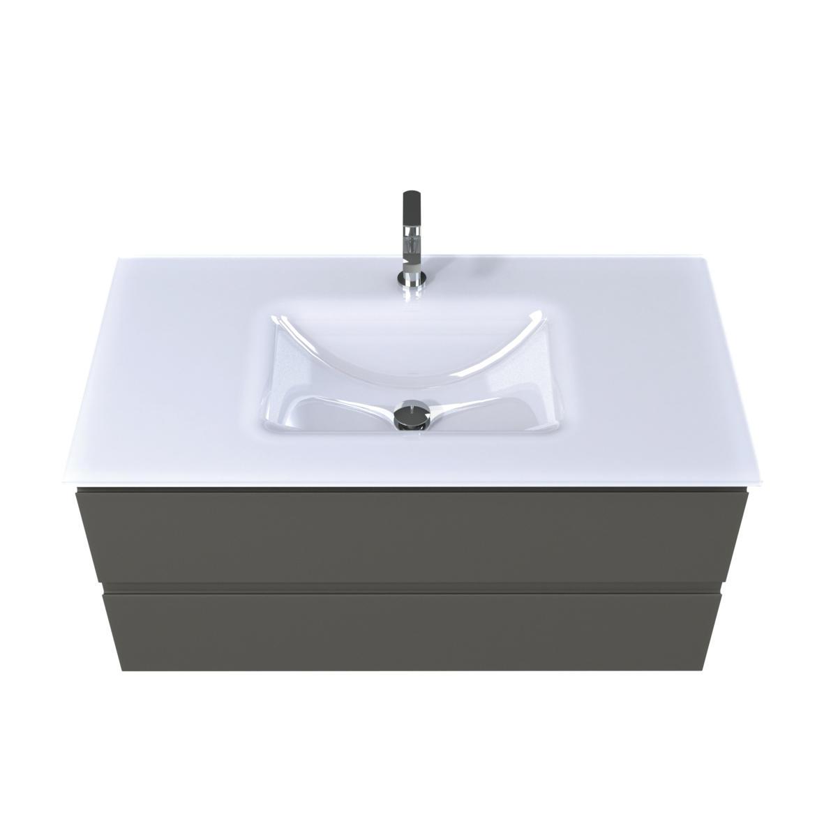 Verre blanc alpin | Meubles de salle de bains, baignoires ...