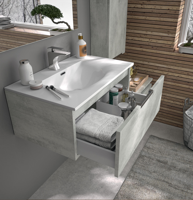 meuble de salle de bain ten cedam beton cendre