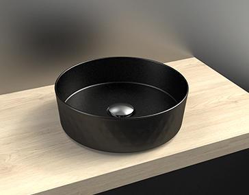 vasque à poser céramique noir sidney cedam