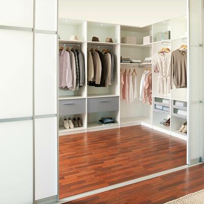 Rangement, Dressing, Blanc structuré et gris structuré