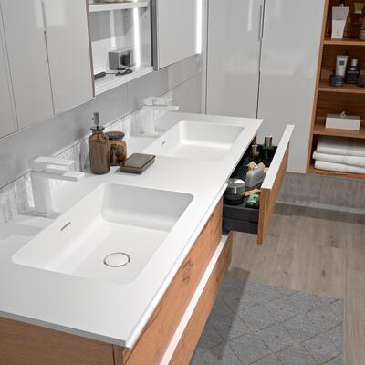 plan vasque sur mesure solid surface cedam