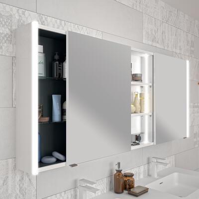 armoire de toilette avec portes coulissantes