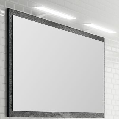 Miroir bois Feeling, Largeur 140 cm, Cotta noir