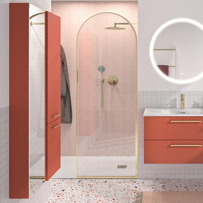 colonne rangement salle de bain gloss cedam