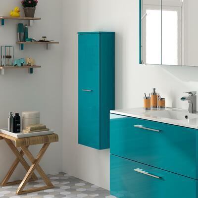 Collection Laura, Largeur 35 cm, Bleu atlantic brillant