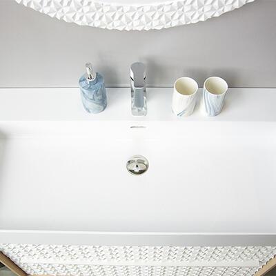 plan origami cedam marbre reconstitué brillant