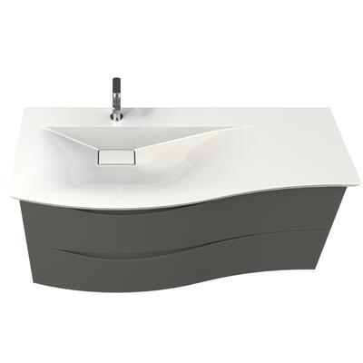 Plan vasque marbre reconstitue brillant cedam
