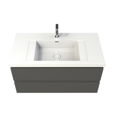 Plan vasque en marbre reconstitué brillant HAPLAN cedam