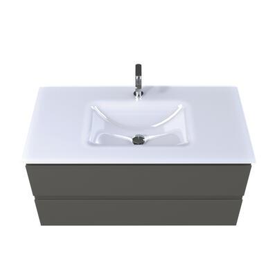 Plan vasque verre blanc brillant cedam