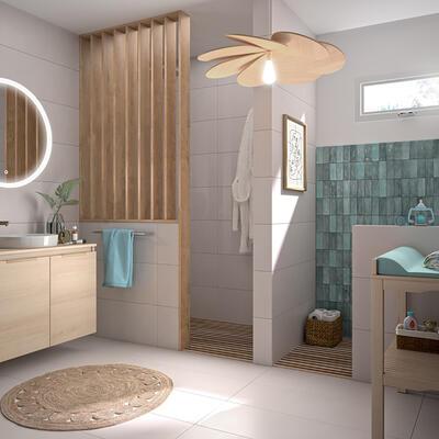 meuble de salle de bain ten cedam portes chene sable