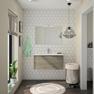 meuble de salle de bain ten cedam chene terra