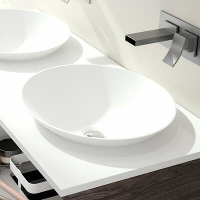 Vasques semi-encastrées Solid Surface