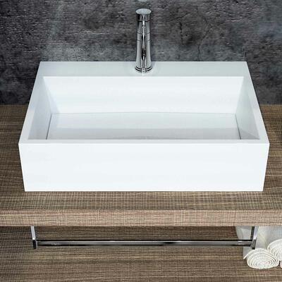 Vasque à poser en marbre reconstitué brillant