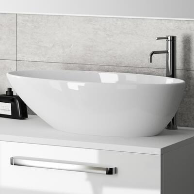 Modèle Eros, Vasque à poser en marbre reconstitué brillant