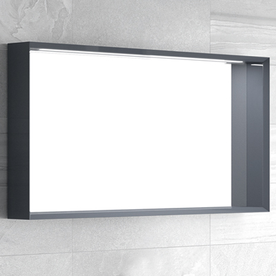 miroir cadre laqu avec led meubles de salle de bains. Black Bedroom Furniture Sets. Home Design Ideas