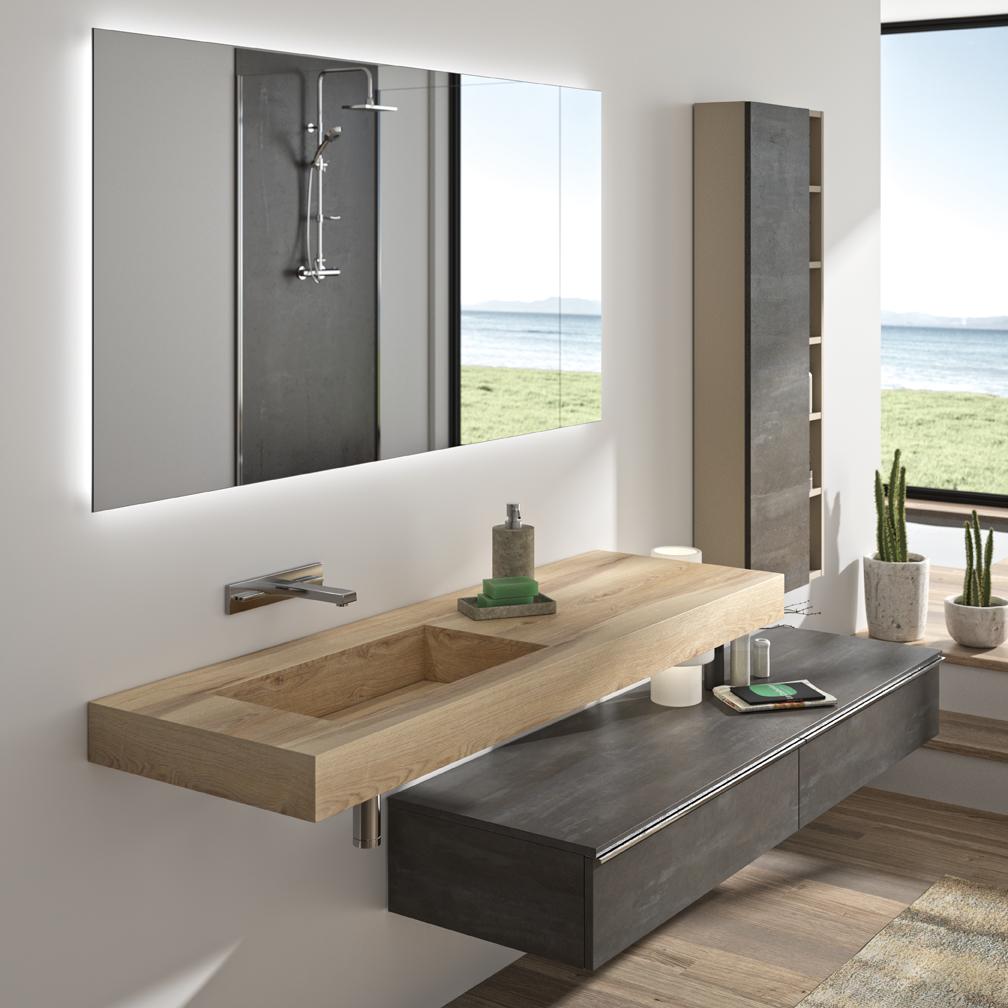 Miroir sur mesure meubles de salle de bains baignoires - Fabricant meuble de salle de bain ...