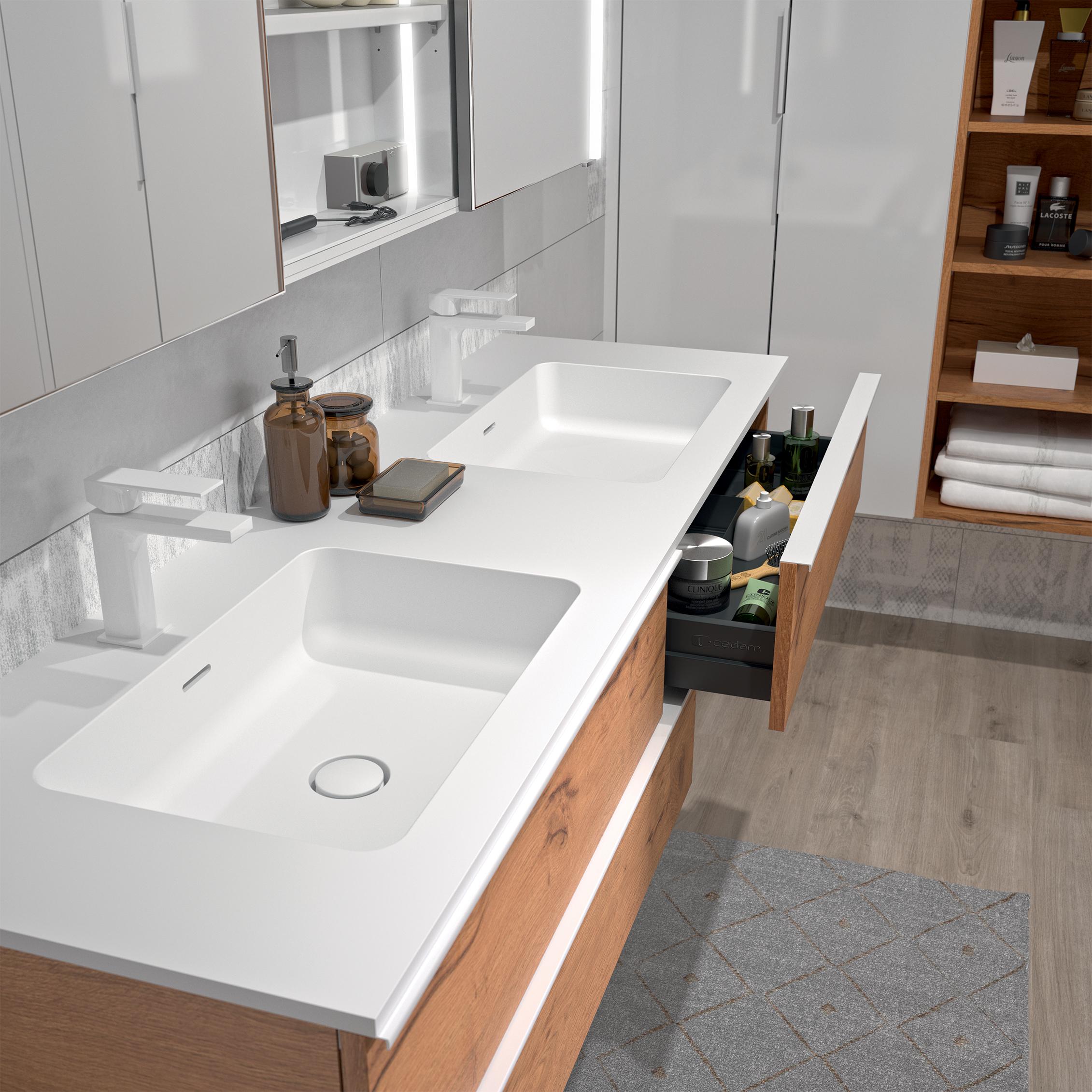 Espace Entre 2 Vasques extenso | meubles de salle de bains, baignoires, fabricant