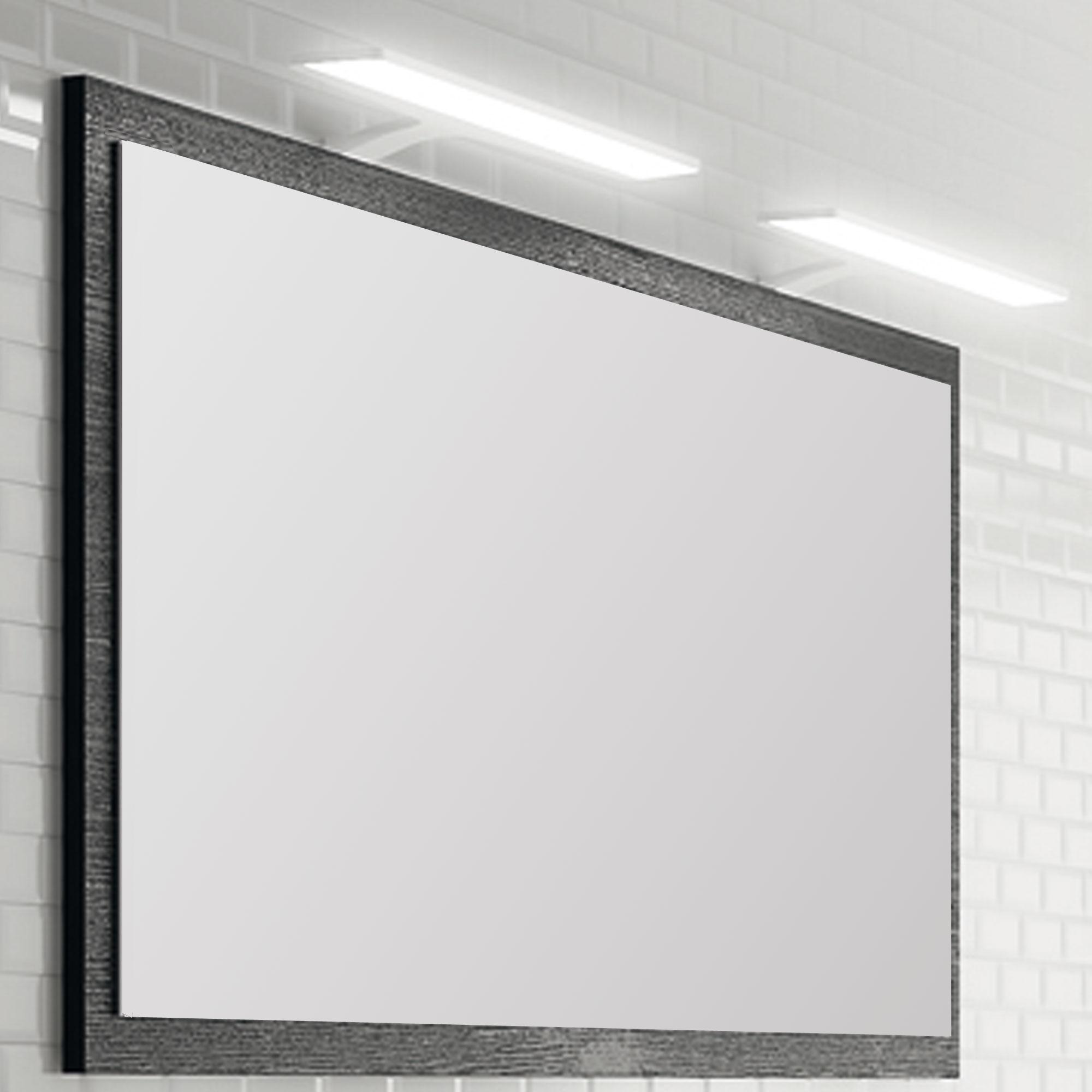 Miroir cadre bois feeling meubles de salle de bains for Miroir 140 cm