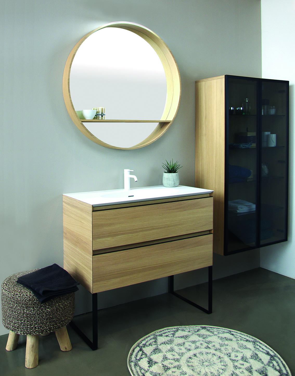 Collection Oakwood cedam, placage bois véritable, largeur 120cm