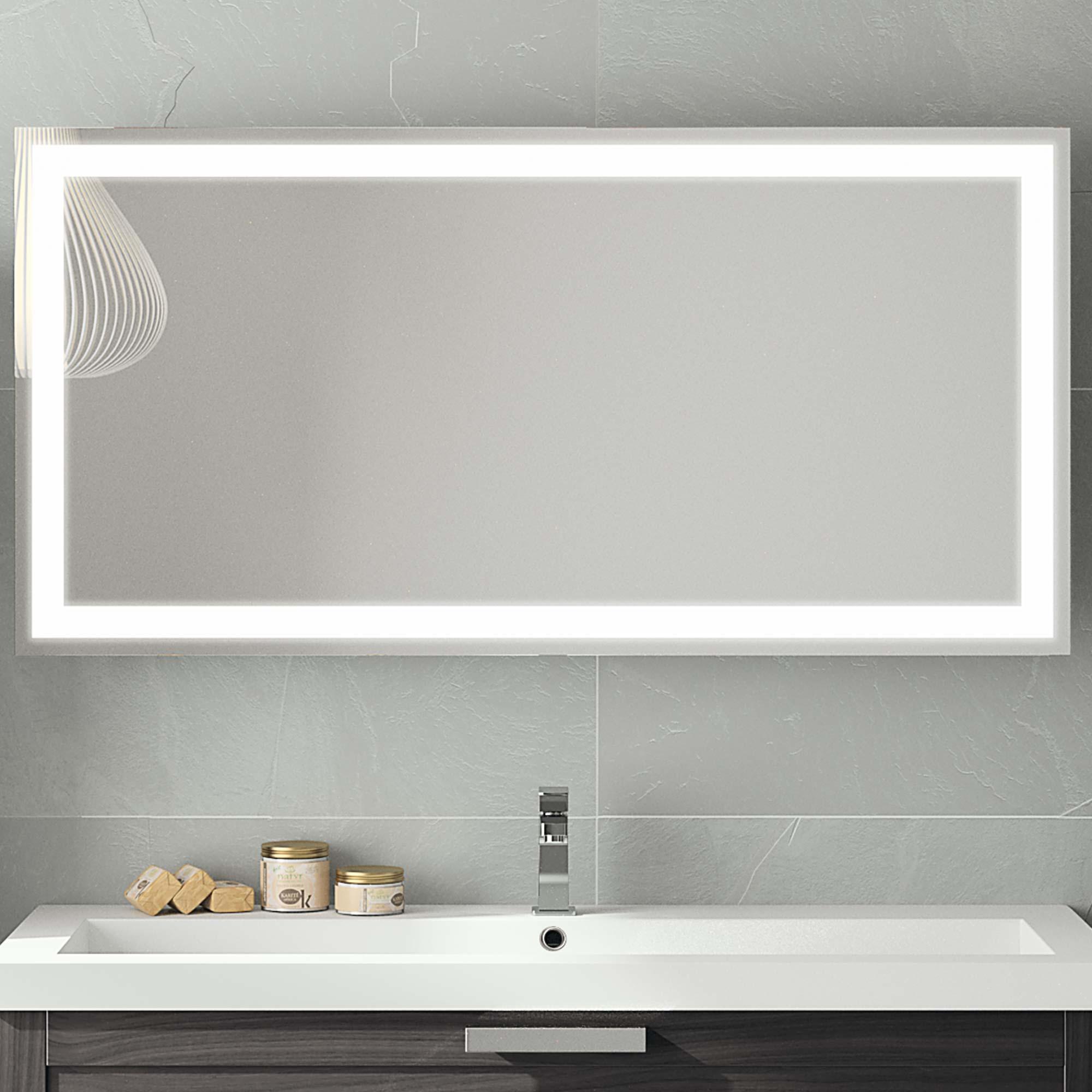 Miroir Salle De Bain 120 Cm miroirs led | meubles de salle de bains, baignoires