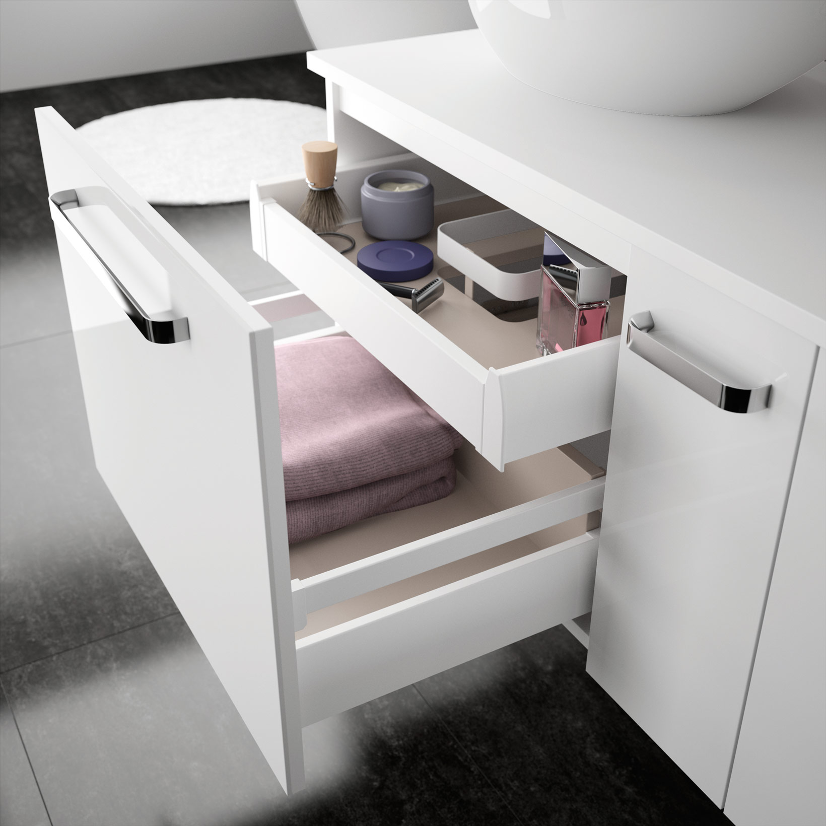 Zoé   Meubles de salle de bains, baignoires, fabricant français CEDAM